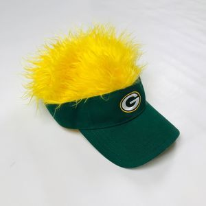 Green Bay Packers Visor with Hair